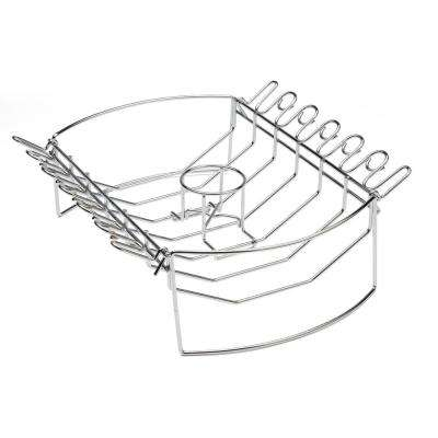 4-in-1 BBQ BasketRib, Roast, Beer Can Chicken, and Wing Rack