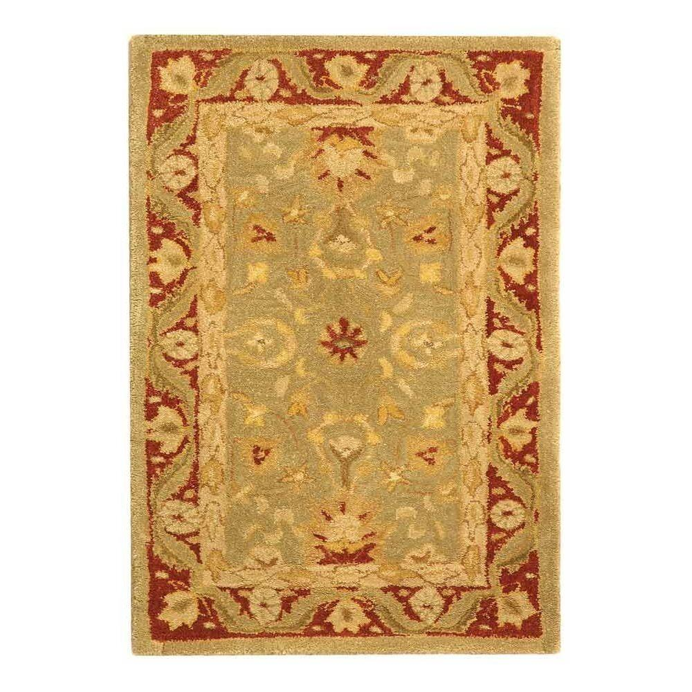 Safavieh Anatolia Light Green/Red 2 ft. x 3 ft. Area Rug