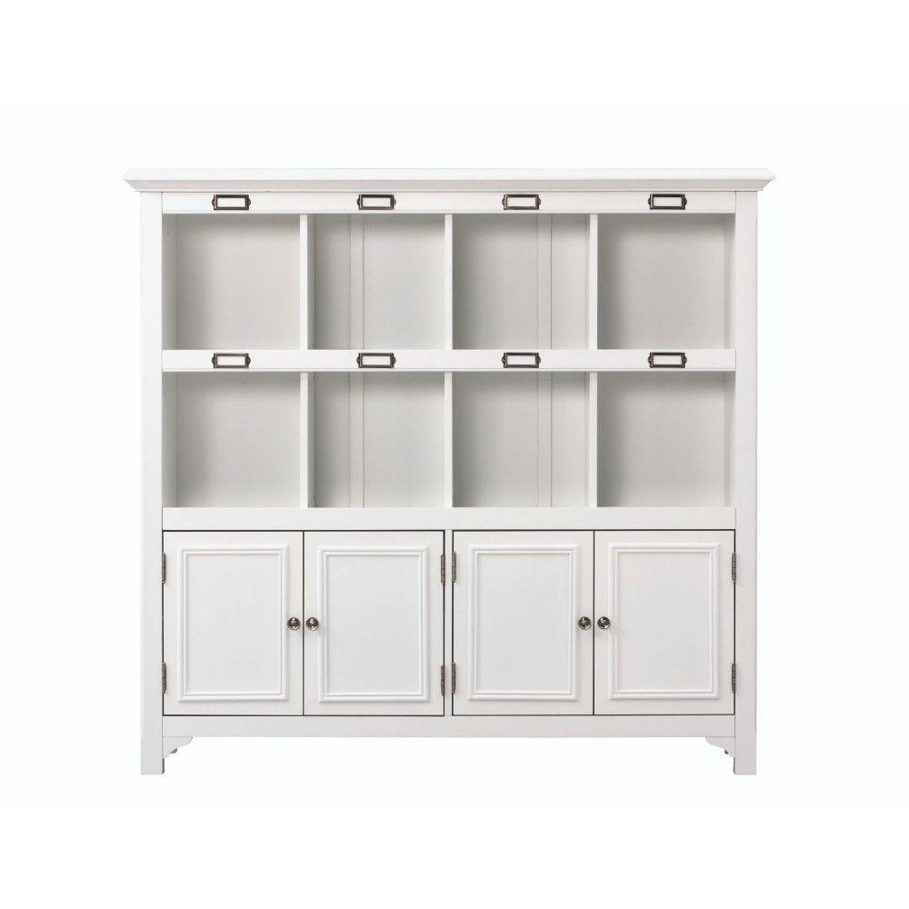 Home Decorators Collection William 53.25 in. W x 49.5 in. H White 8-Cube Organizer