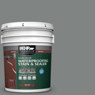 5 gal. #6795 Slate Gray Solid Waterproofing Exterior Wood Stain and Sealer