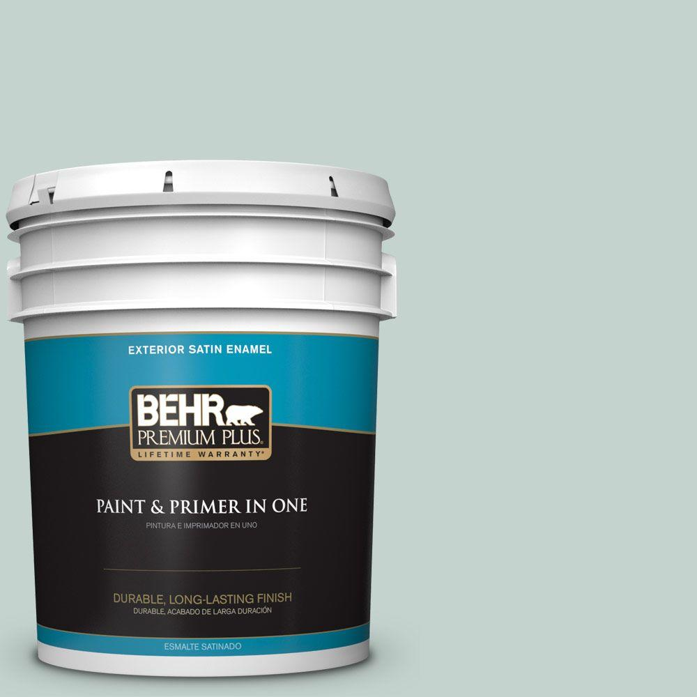 5 gal. #N430-2 Nature's Reflection Satin Enamel Exterior Paint