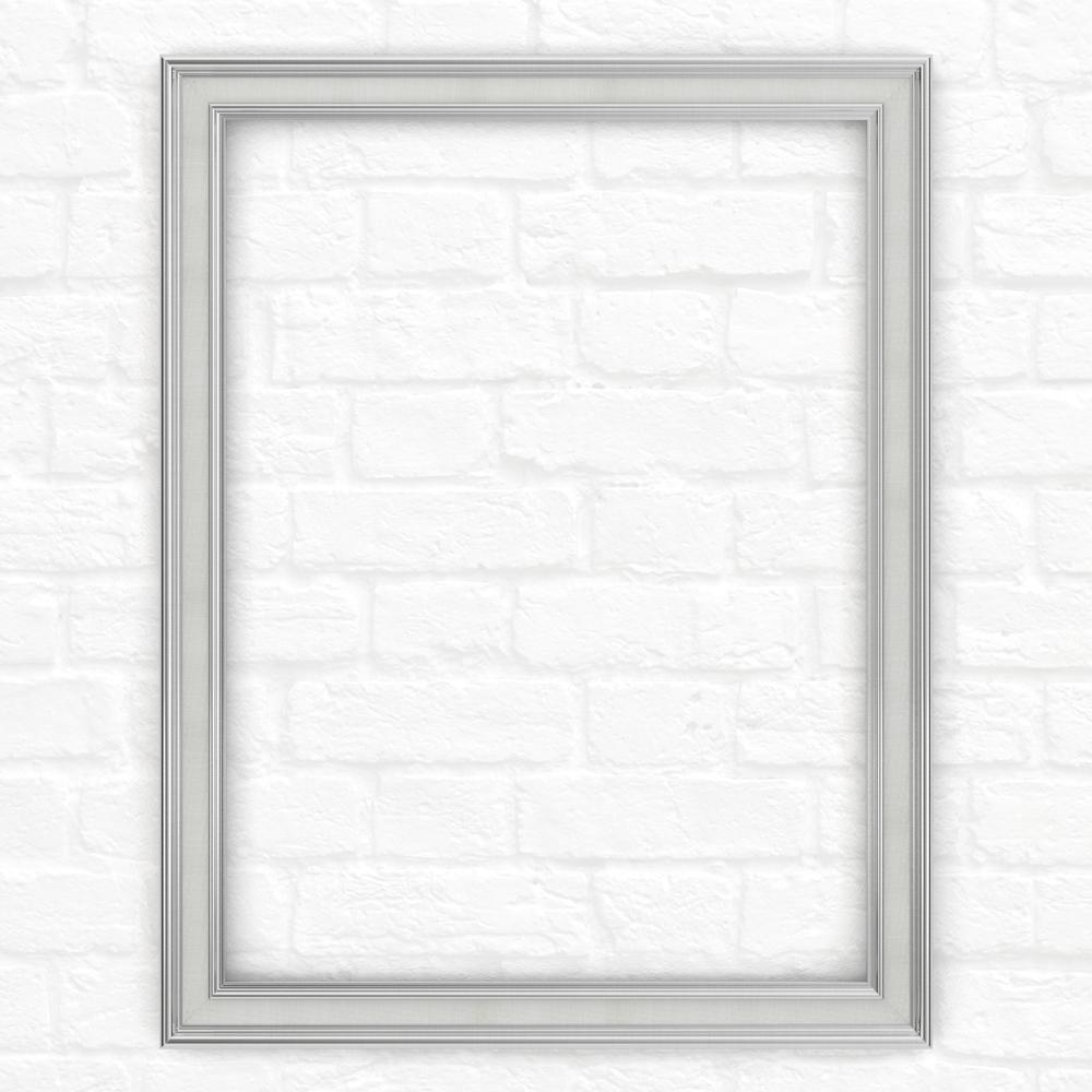 23 in. x 33 in. (S2) Rectangular Mirror Frame in Chrome
