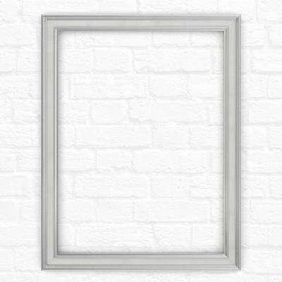23 in. x 33 in. (S2)  Rectangular Mirror Frame in Chrome and Linen