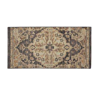 Livia Blue Beige 2 ft. x 4 ft. Accent Rug