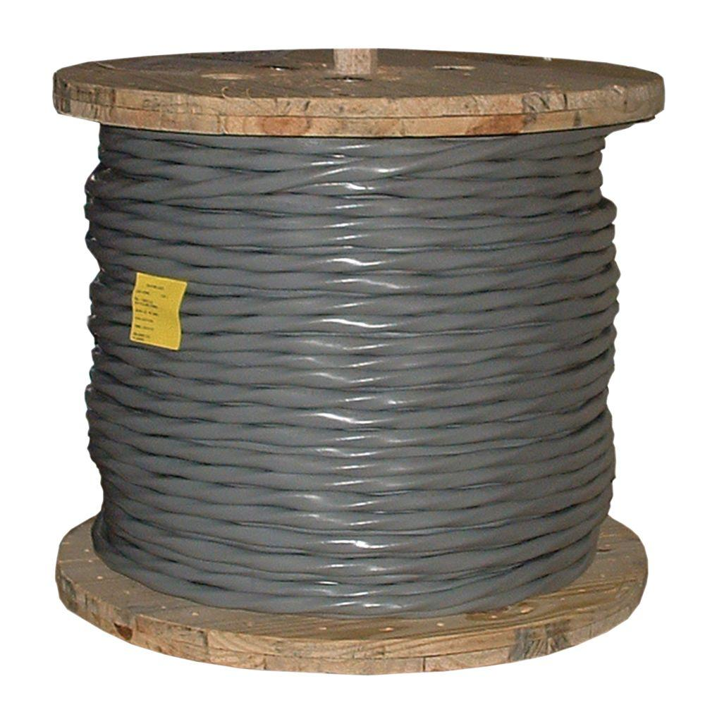 Southwire (By-the-Foot) 1-1-1-3 Gray Stranded AL SER Cable-13103799 ...