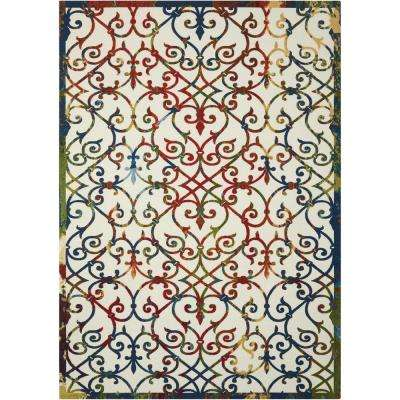 Home and Garden Multi 8 ft. x 11 ft. Indoor/Outdoor Area Rug