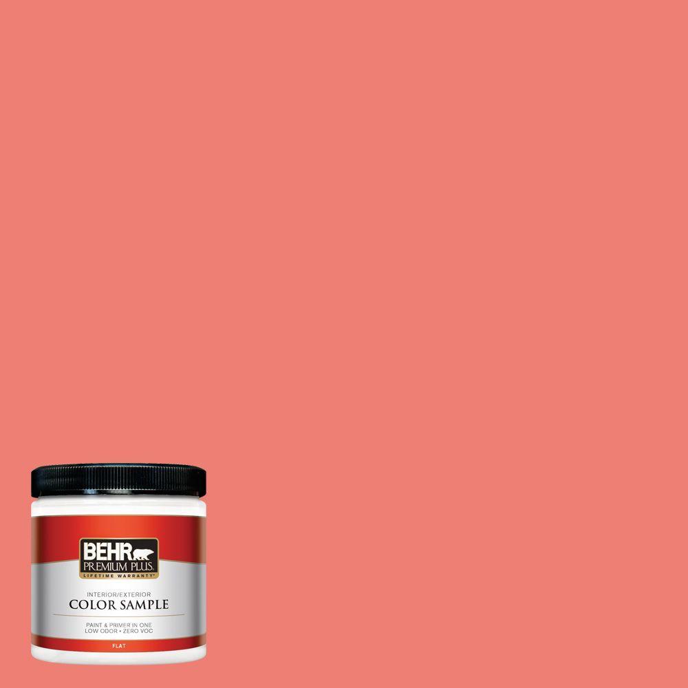 BEHR Premium Plus 8 oz. #170B-5 Youthful Coral Interior/Exterior Paint Sample