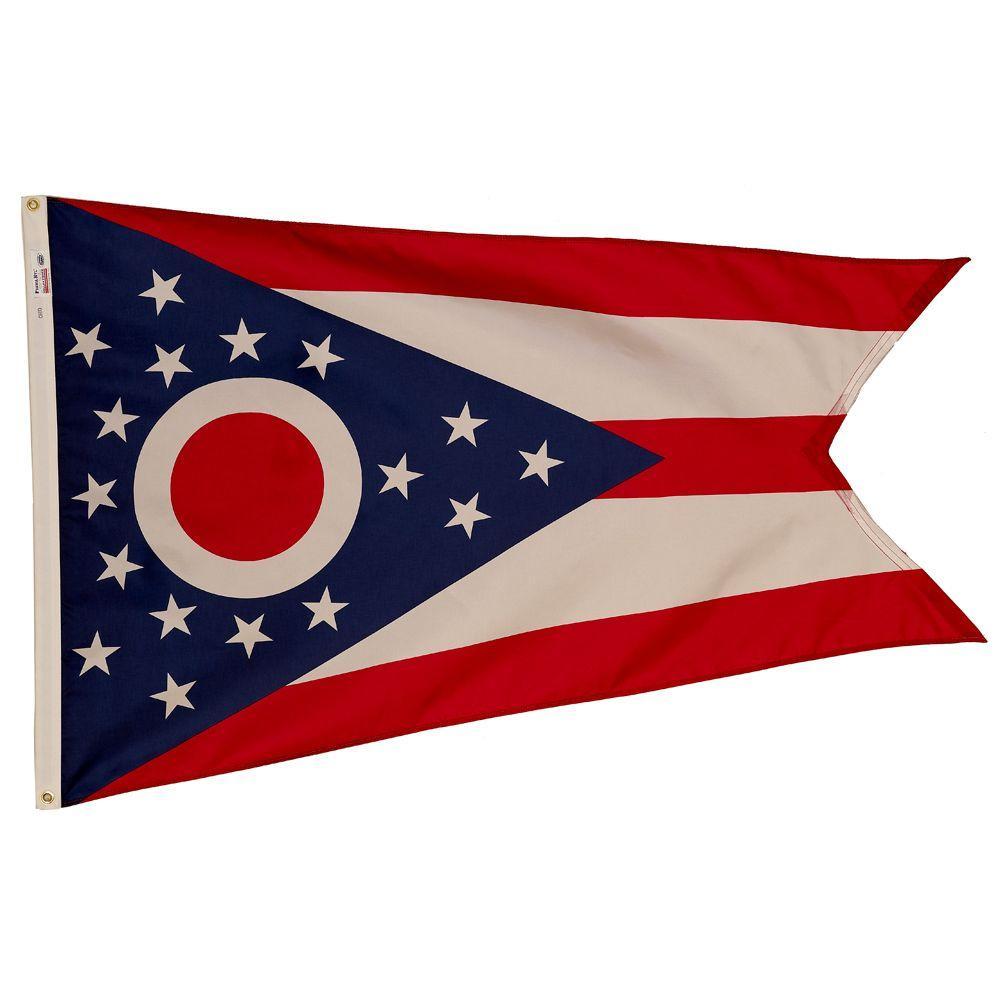 3 ft. x 5 ft. Nylon Ohio State Flag