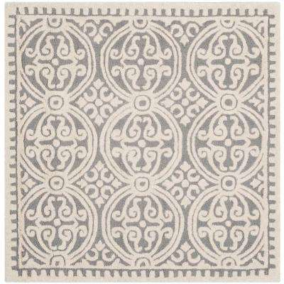 Cambridge Silver/Ivory 10 ft. x 10 ft. Square Area Rug
