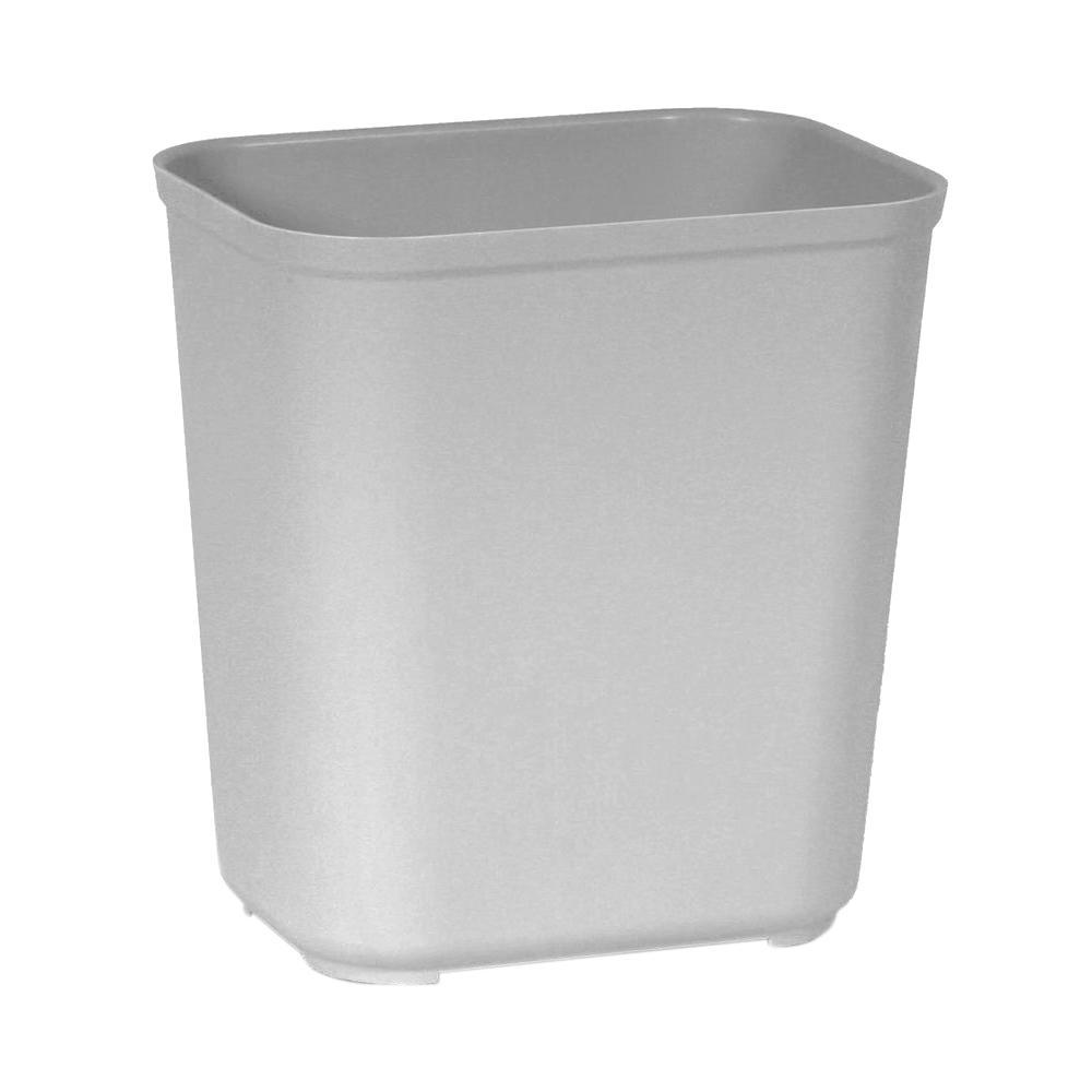 7 Gal. Grey Rectangular Fire-Resistant Trash Can