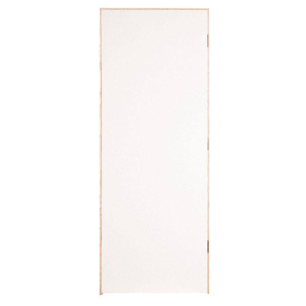 Masonite 28 in x 80 in flush hardboard right handed - Hollow core flush interior doors ...
