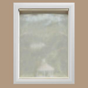 Cut-to-Size Cream Cordless UV Blocking Fade resistant Roller Shades 33.5 in. W x 72 in. L