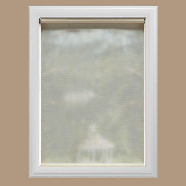 Cut-to-Size Cream Cordless UV Blocking Fade resistant Roller Shades 49.5 in. W x 72 in. L