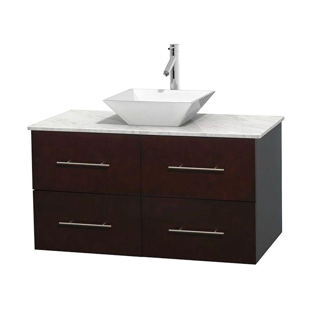 Vanity Marble Vanity Top White Porcelain Sink