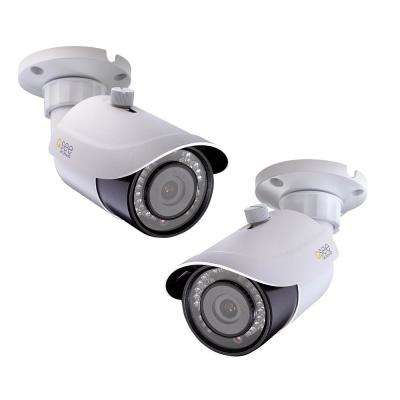 Indoor or Outdoor Bullet 4K IP Wired Security Standard Surveillance Camera (2-Pack)
