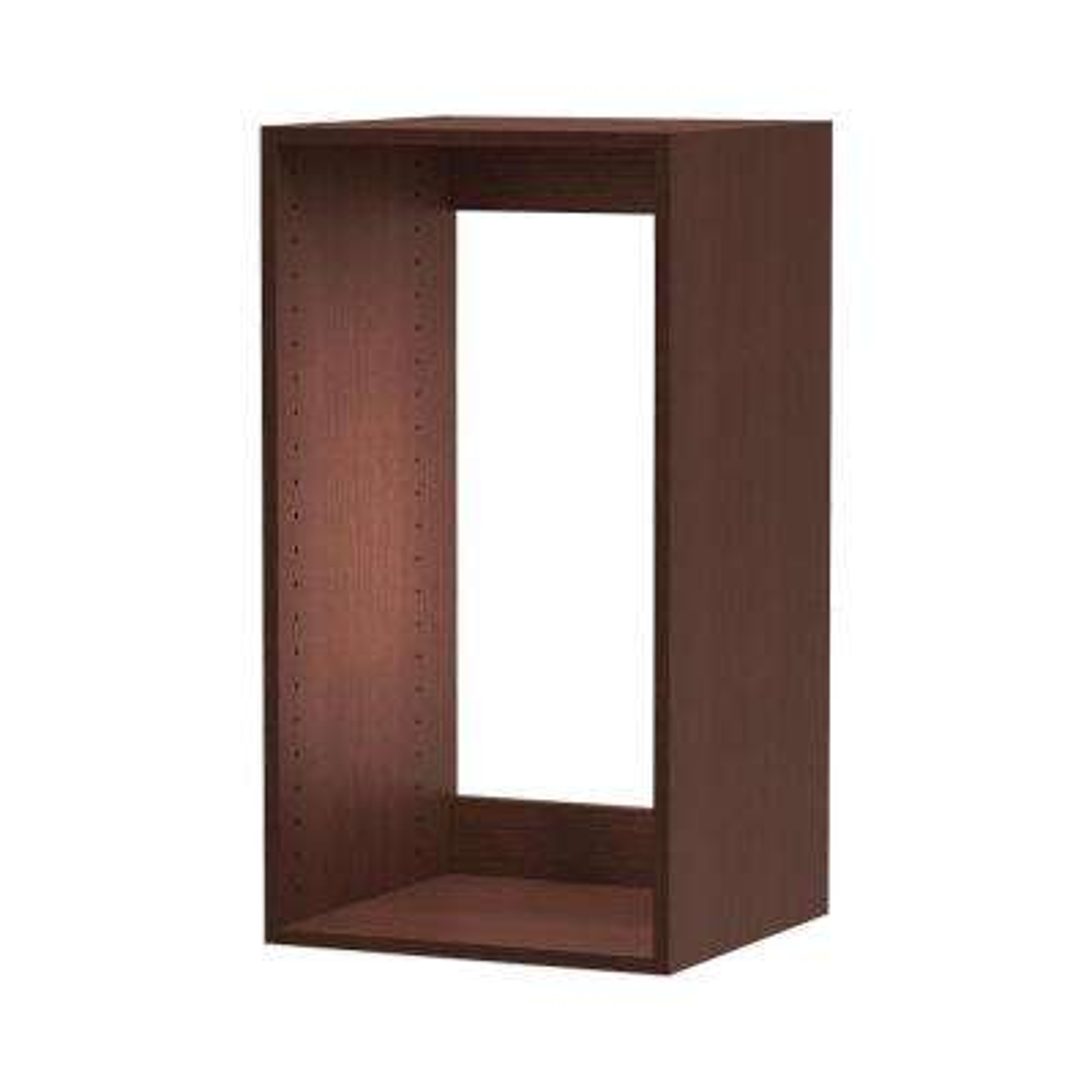 15 in. D x 15 in. W x 30 in. H Utility Wall Cabinet Melamine Closet System in Mocha