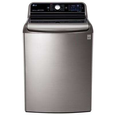 5.7 cu. ft. High-Efficiency Top Load Washer with Steam and TurboWash in Graphite Steel, ENERGY STAR