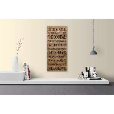 IN THIS HOUSE Reclaimed Wood Decorative Sign