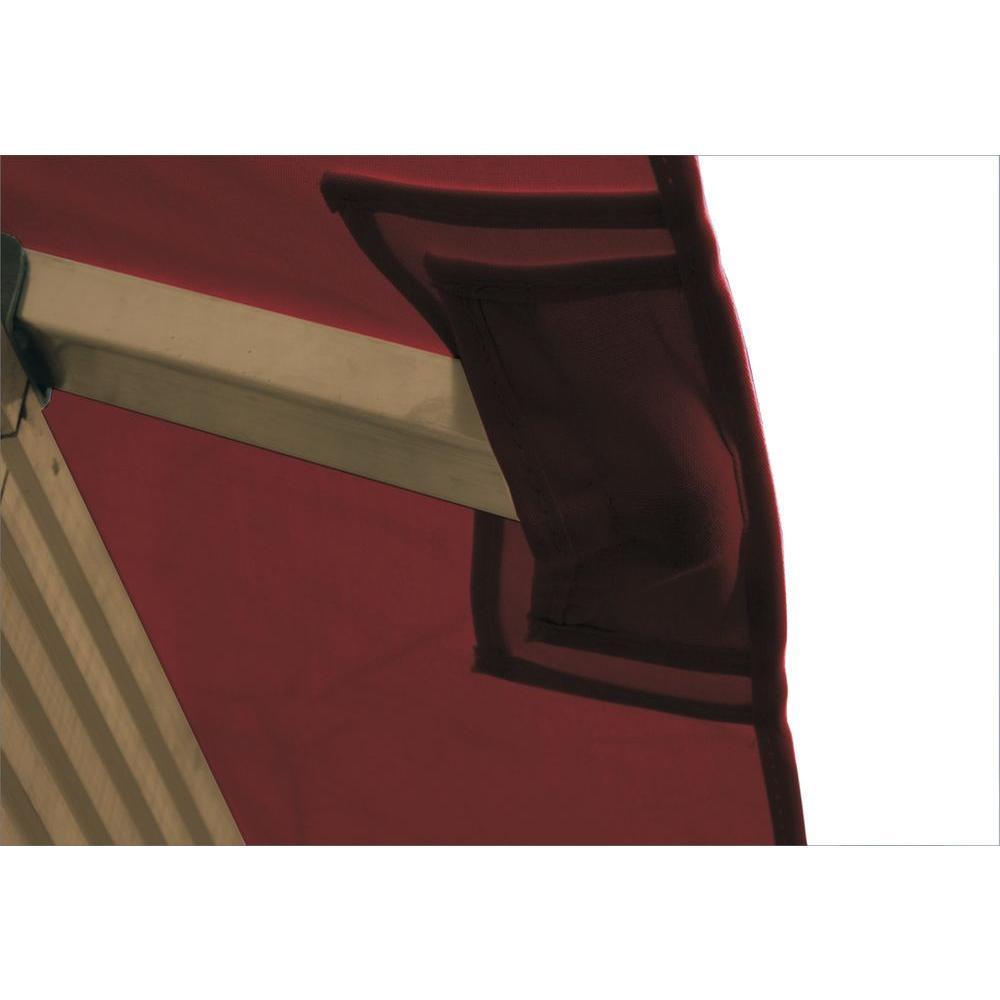 12 ft. x 12 ft. STC Seville and Santa Cruz Burgundy Gazebo Replacement Canopy