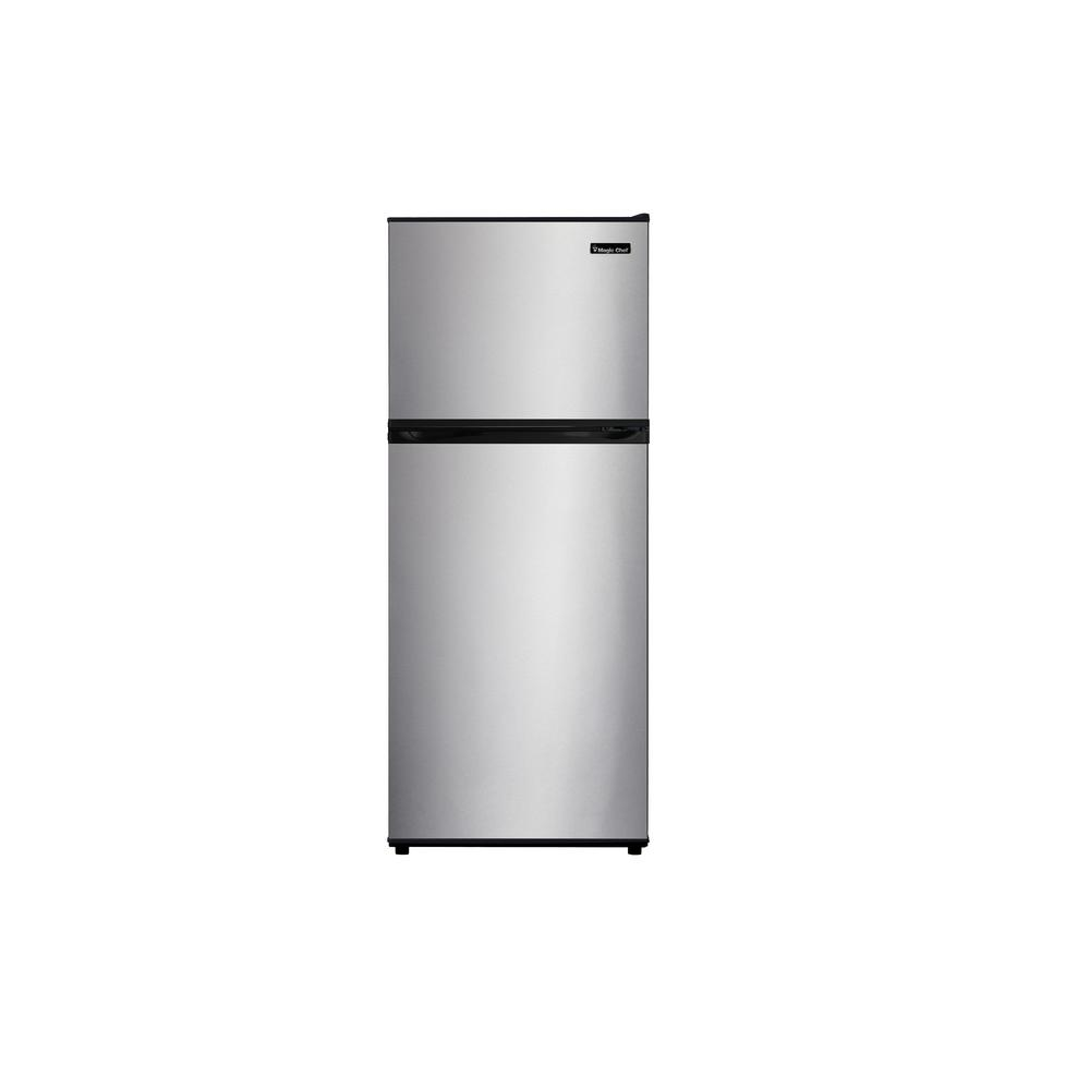 24 in. W 9.9 cu. ft. Top Freezer Refrigerator in Stainless