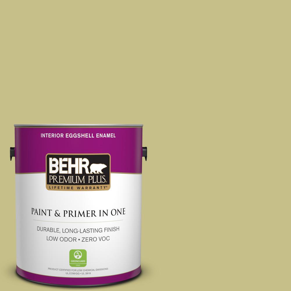 1 gal. #PPU9-11 Wheat Grass Zero VOC Eggshell Enamel Interior Paint