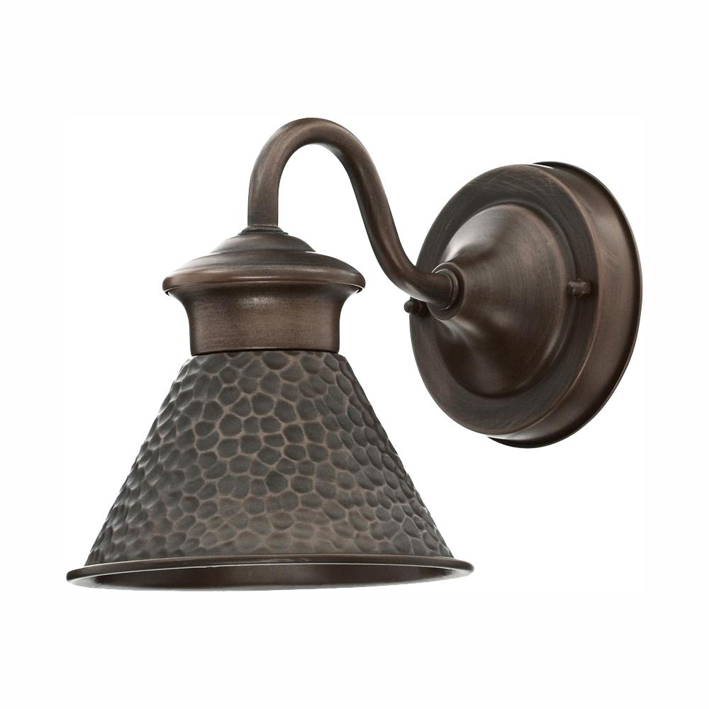 Home Decorators Collection Essen 1-Light Antique Copper Outdoor Wall Lantern Sconce