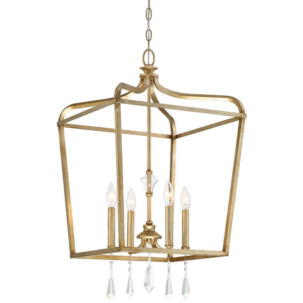 Minka Lavery Laurel Estate 4-Light Brio Gold Pendant