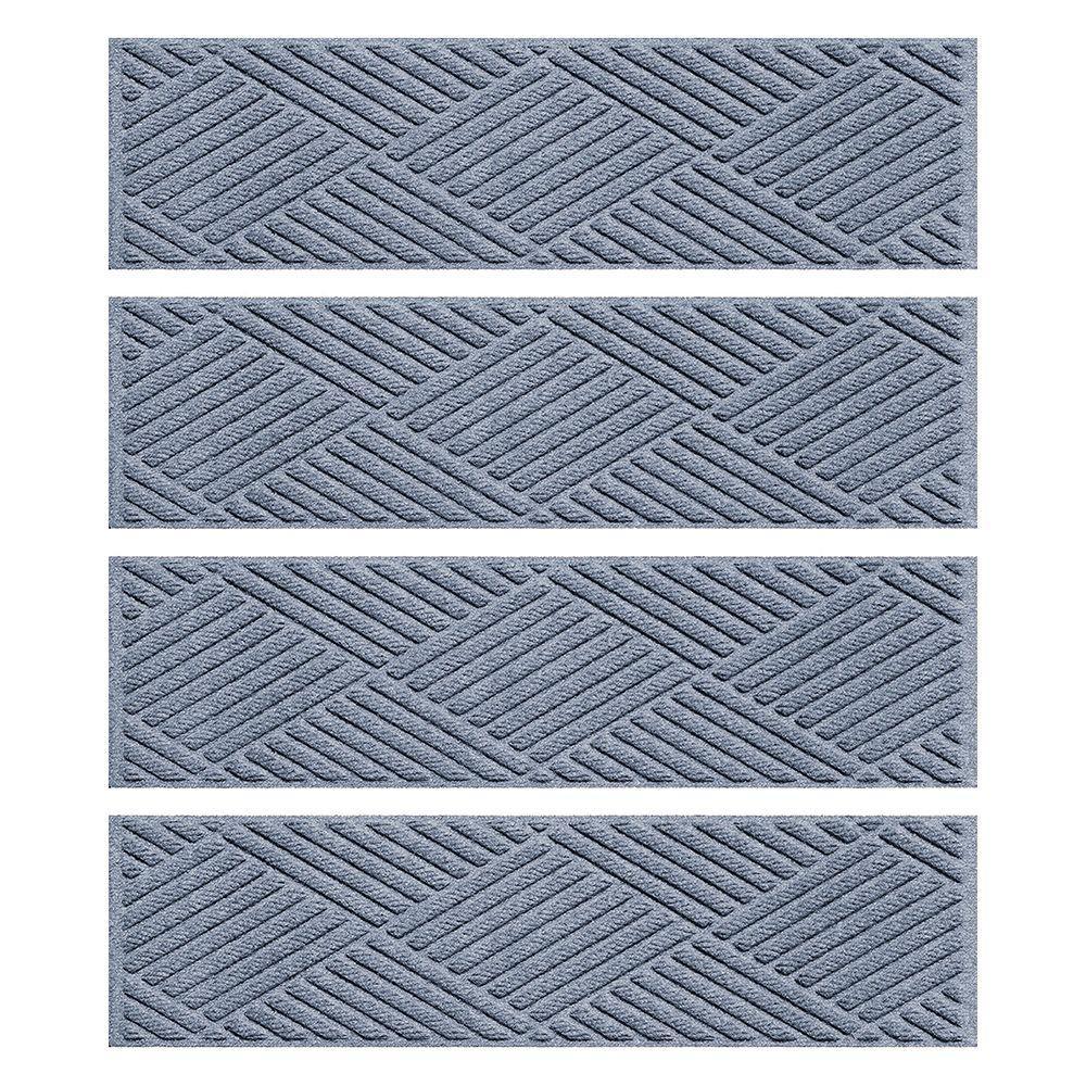 Aqua Shield Bluestone 8.5 In. X 30 In. Diamonds Stair Tread Cover (Set