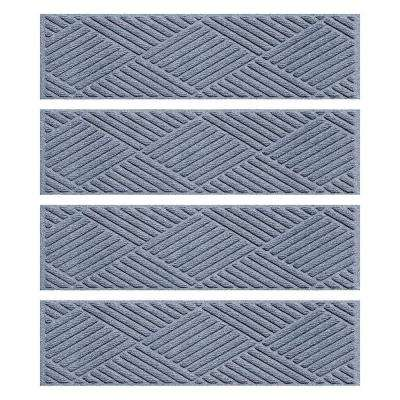 Bluestone 8.5 in. x 30 in. Diamonds Stair Tread Cover (Set of 4)