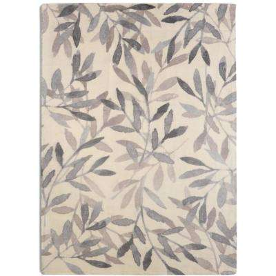 Birch Contemporary Floral Grey 7 ft. 6 in. x 9 ft. 6 in. Area Rug