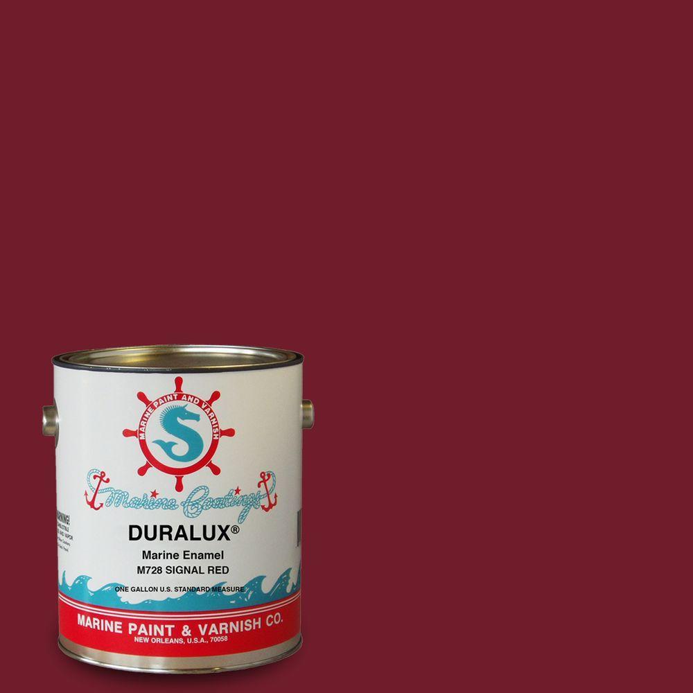 Duralux Marine Paint 1 Gal Signal Red Marine Enamel M728