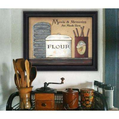 "15 in. x 19 in. ""Meals and Memories"" by Pam Britton Printed Framed Wall Art"