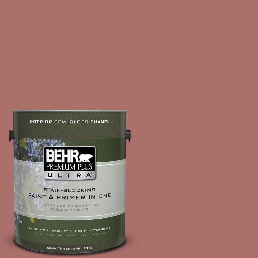 BEHR Premium Plus Ultra 1-gal. #PMD-81 Tandoori Spice Semi-Gloss Enamel Interior Paint