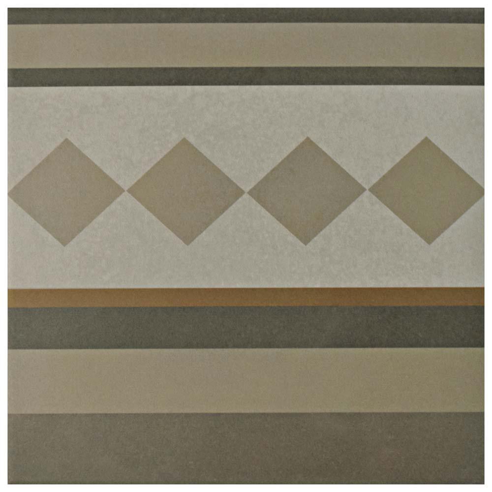 Merola Tile Caprice Loire 7-7/8 in. x 7-7/8 in. Porcelain Floor and ...