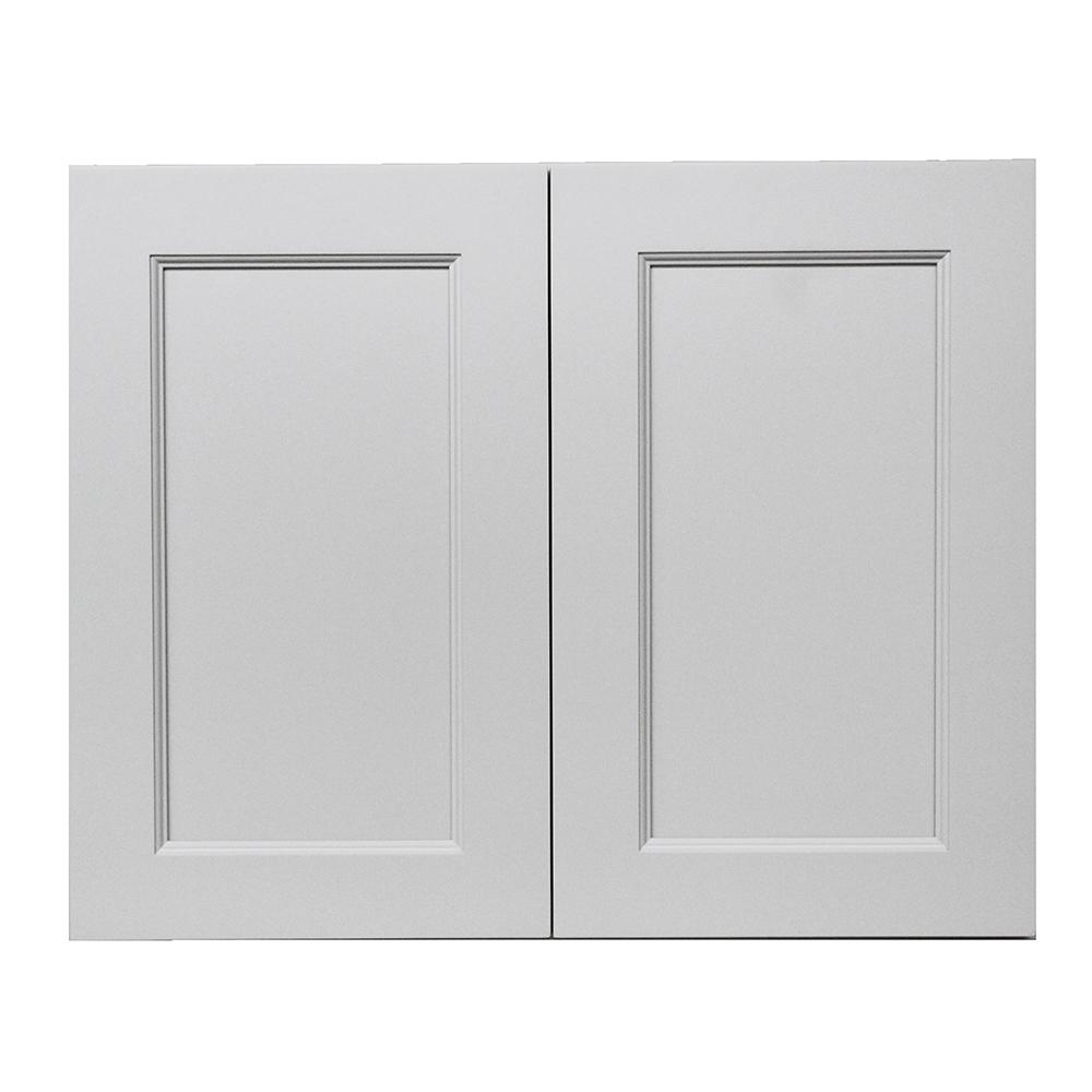 Krosswood Doors Modern Craftsman Ready To Assemble 36x30x12 In. Wall Cabinet  With 2 Door 2