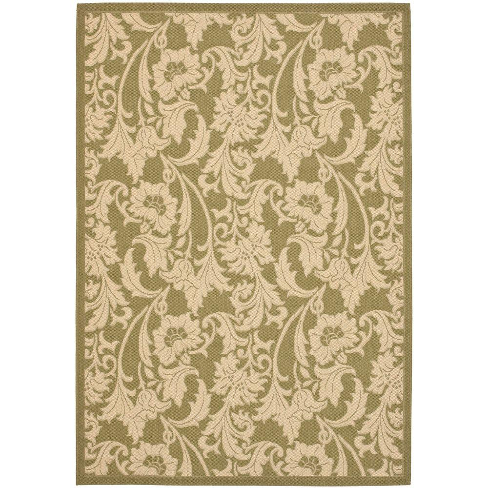 Safavieh courtyard green cream 4 ft x 5 ft 7 in indoor for Green and cream rugs