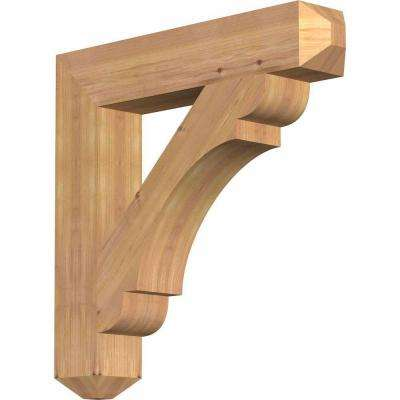 5-1/2 in. x 36 in. x 36 in. Western Red Cedar Olympic Craftsman Smooth Bracket