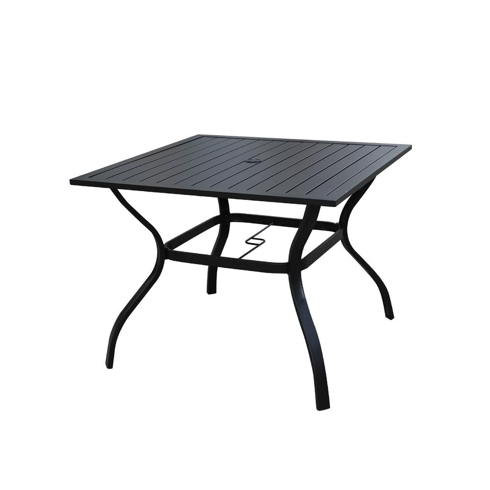 Patio Festival Square Metal Outdoor Dining Table