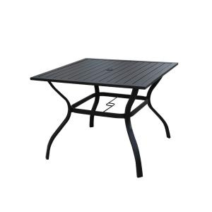Patio Festival Square Metal Outdoor Dining Table Pf19272 The Home Depot