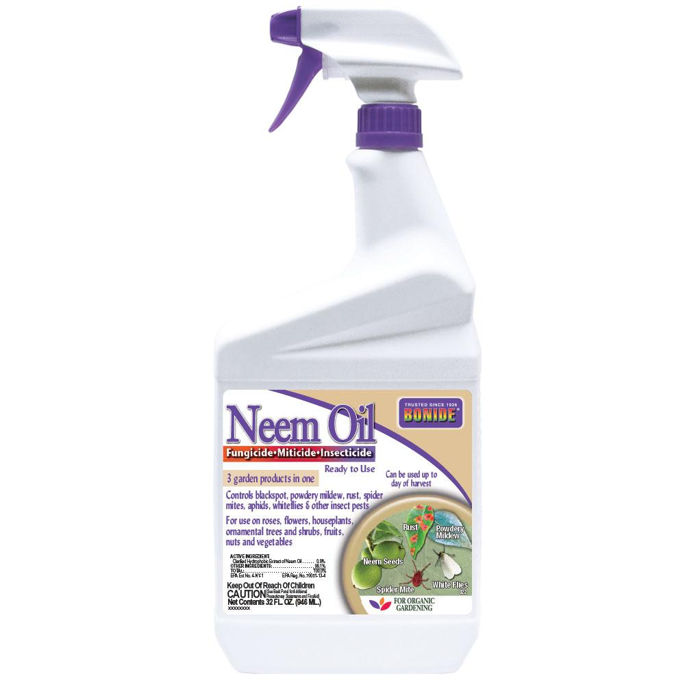Bonide 32 oz. Ready to Use Neem Oil Fungicide Miticide and Insecticide
