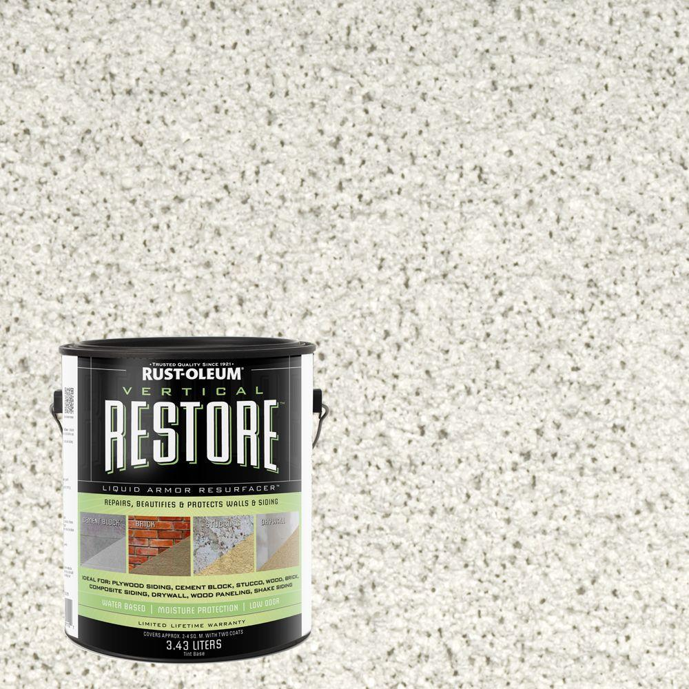 Rust-Oleum Restore 1-gal. White Vertical Liquid Armor Resurfacer for Walls and Siding