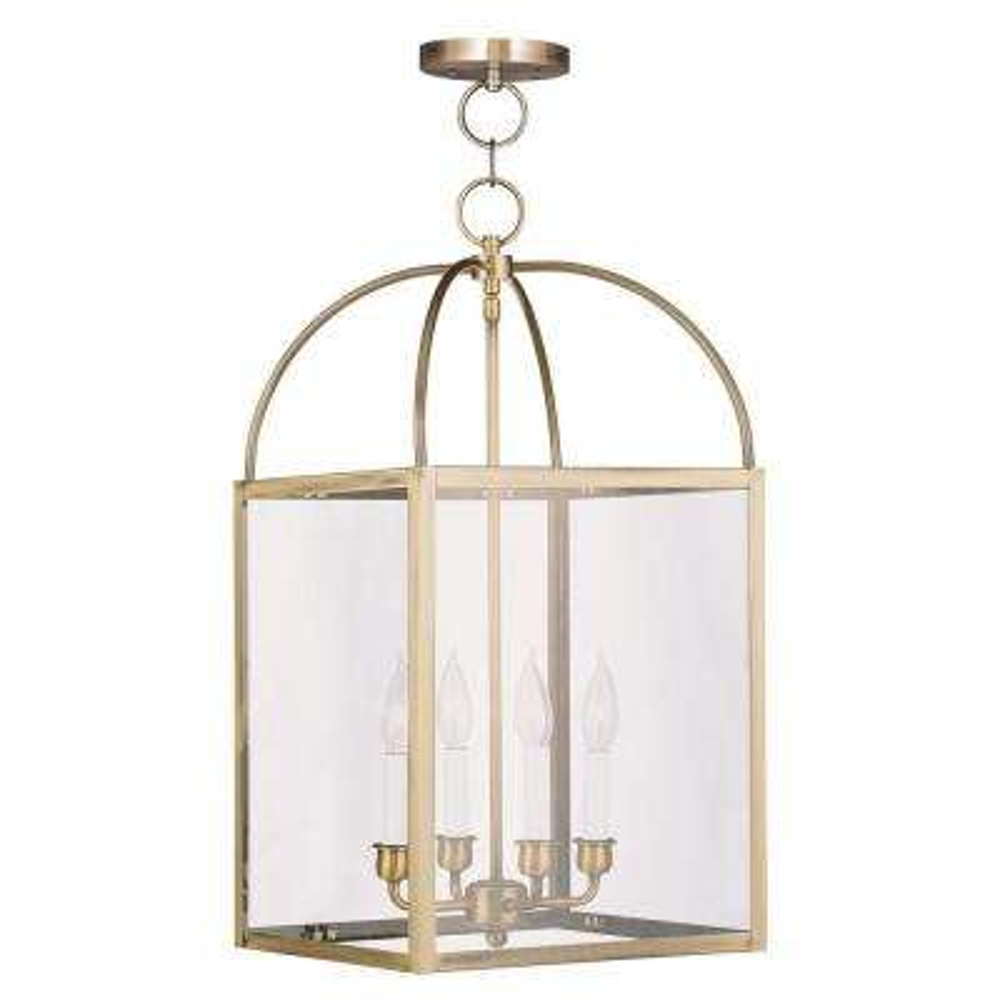 Providence 4-Light Antique Brass Incandescent Pendant