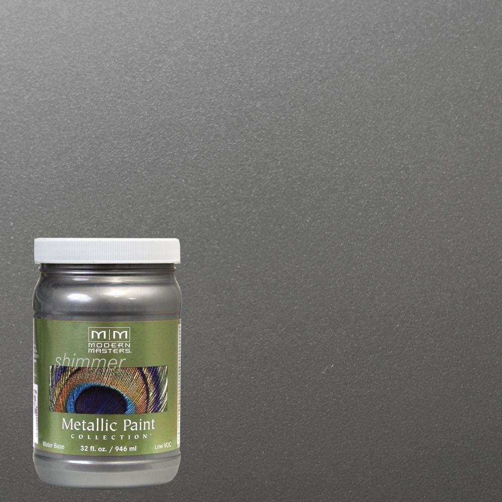 1 qt. Pewter Water-Based Satin Metallic Interior/Exterior Paint
