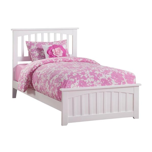 Atlantic Furniture Mission White Twin Xl Traditional Bed