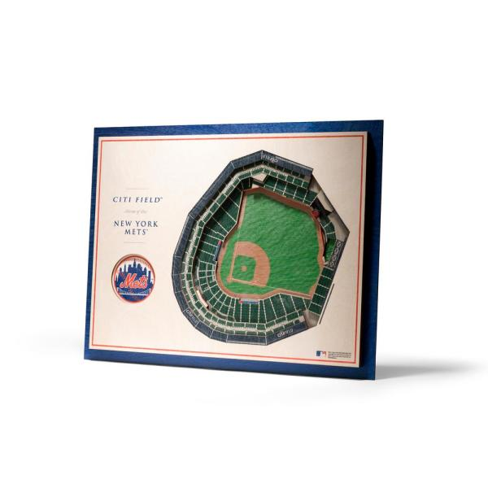 MLB New York Mets 5-Layer Stadiumviews 3D Wooden Wall Art