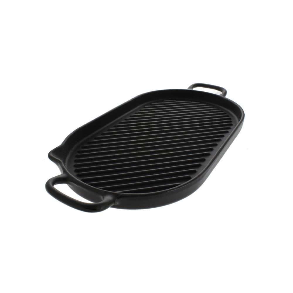 14 in. Oval French Cast Iron Grill