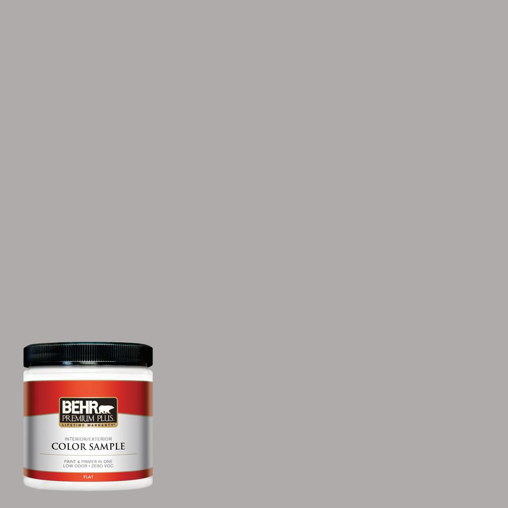 8 oz. #PPU18-14 Cathedral Gray Flat Interior/Exterior Paint Sample
