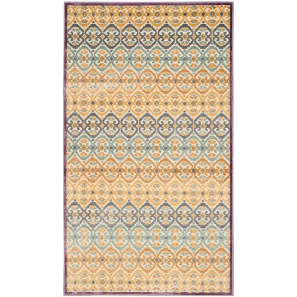 Paradise Mauve/Multi 3 ft. 3 in. x 5 ft. 7 in.