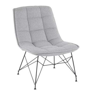 Quad Black and Light Grey Contemporary Upholstered Chair