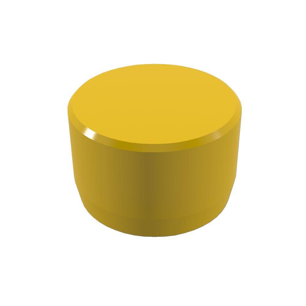 Formufit 1 in. Furniture Grade PVC External Flat End Cap in Yellow